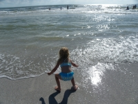 Beach photo of granddaughter