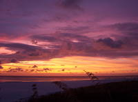 This is a sunset from St. Pete Beach at Hideaway Sands in September 2005. At this time there was a hurricane going through the Florida Keys. This was one of the most beautiful sunsets I have ever seen.